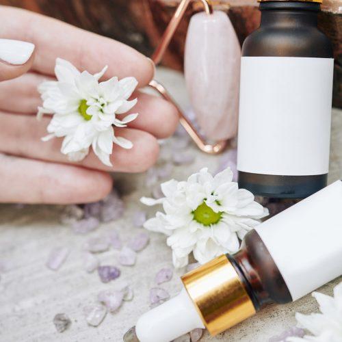 Cosmetics with daisy extrac